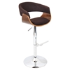 Vintage Mod Height Adjustable Barstool - Swivel, Walnut, Espresso