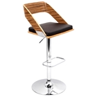 Vuno Zebrano Bar Stool with Brown Seat