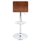 Vasari Height Adjustable Barstool - Swivel, Walnut, Cream - LMS-BS-JY-VSR-WL-CR