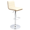 Vasari Height Adjustable Barstool - Swivel, Walnut, Cream