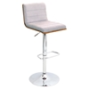 Vasari Height Adjustable Barstool - Swivel, Walnut, Gray
