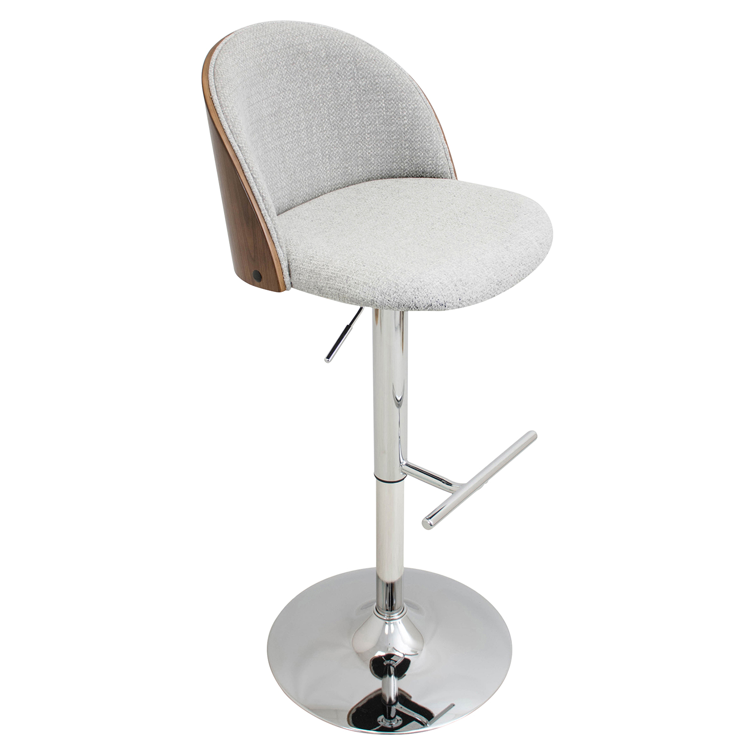 Luna Height Adjustable Barstool - Swivel, White