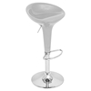 Scooper Height Adjustable Barstool - Swivel, Silver