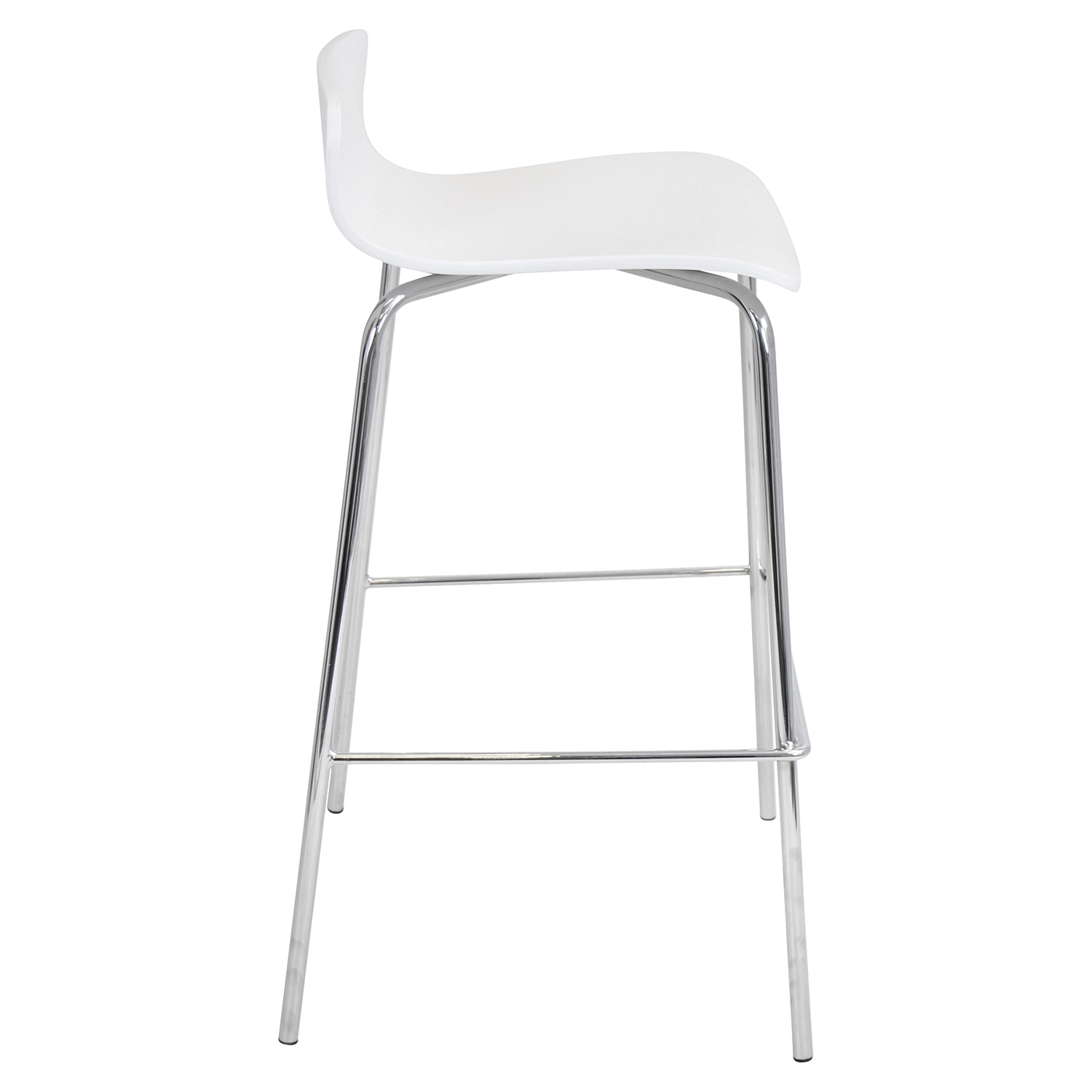 Woodstacker Stackable Barstool - White (Set of 2) - LMS-BS-STAKWD-W2