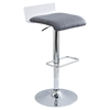 Swerve Adjustable Barstool - Clear, Gray