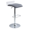Swerve Adjustable Barstool - Clear, Gray - LMS-BS-SWRV-CL-GY