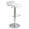 Swerve Adjustable Barstool - Clear, White
