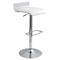 Swerve Adjustable Barstool - Clear, White - LMS-BS-SWRV-CL-W