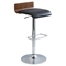 Swerve Adjustable Barstool - Walnut, Black - LMS-BS-SWRV-WL-BK