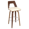 Trilogy Barstool - Walnut, Cream