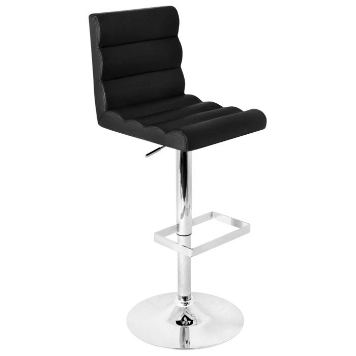 Autoo Black Swivel Bar Stool