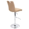 Bar Height Adjustable Barstool - Swivel, Camel - LMS-BS-TW-BAR-CAM