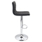 Caviar Height Adjustable Barstool - Swivel, Black - LMS-BS-TW-CAV-BK