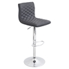 Caviar Height Adjustable Barstool - Swivel, Gray
