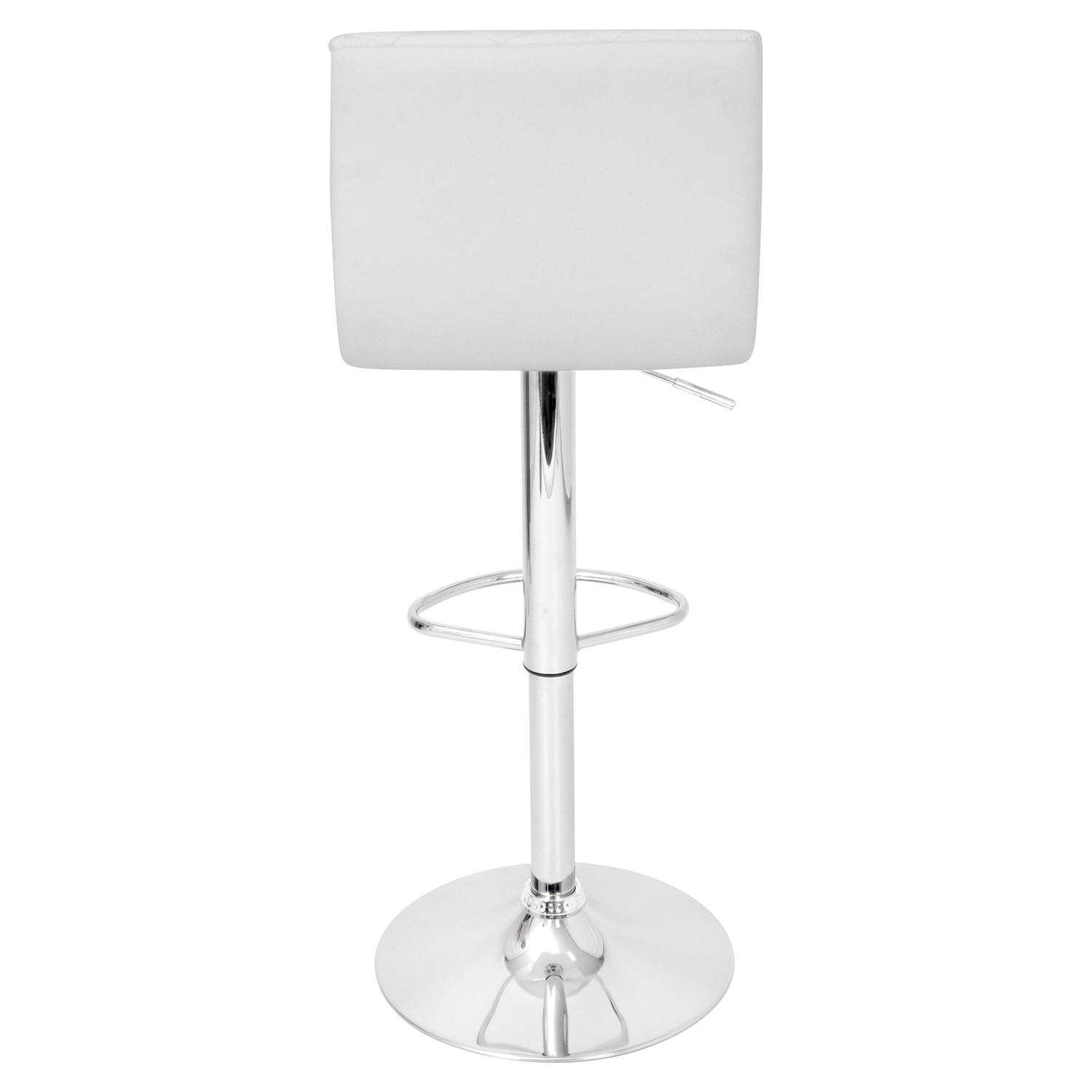 Caviar Height Adjustable Barstool - Swivel, White - LMS-BS-TW-CAV-W