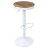 Dakota Height Adjustable Barstool - Swivel, White