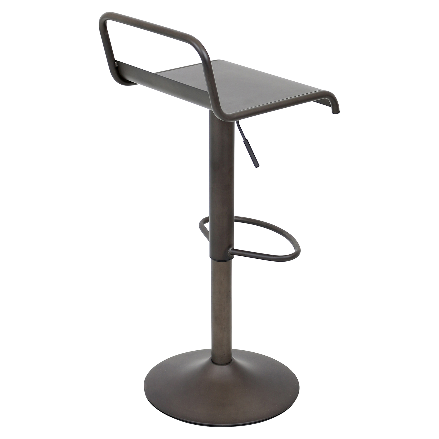 Emery Height Adjustable Barstool - Swivel, Antique - LMS-BS-TW-EMRY-AN