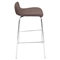 Fabric Stacker Stackable Barstool - Brown (Set of 3) - LMS-BS-TW-FSTK-BN3