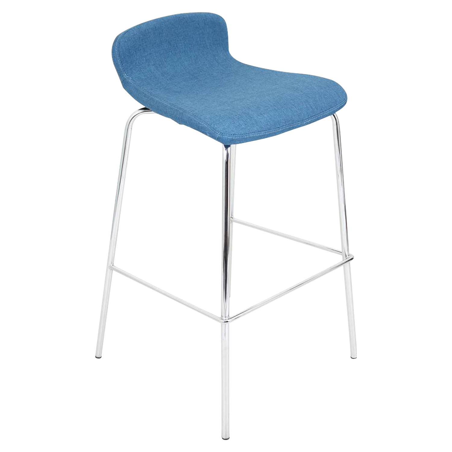 Fabric Stacker Stackable Barstool - Blue (Set of 3)