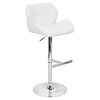 Jubilee Height Adjustable Barstool - Swivel, White