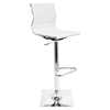 Master Height Adjustable Barstool - Swivel, White
