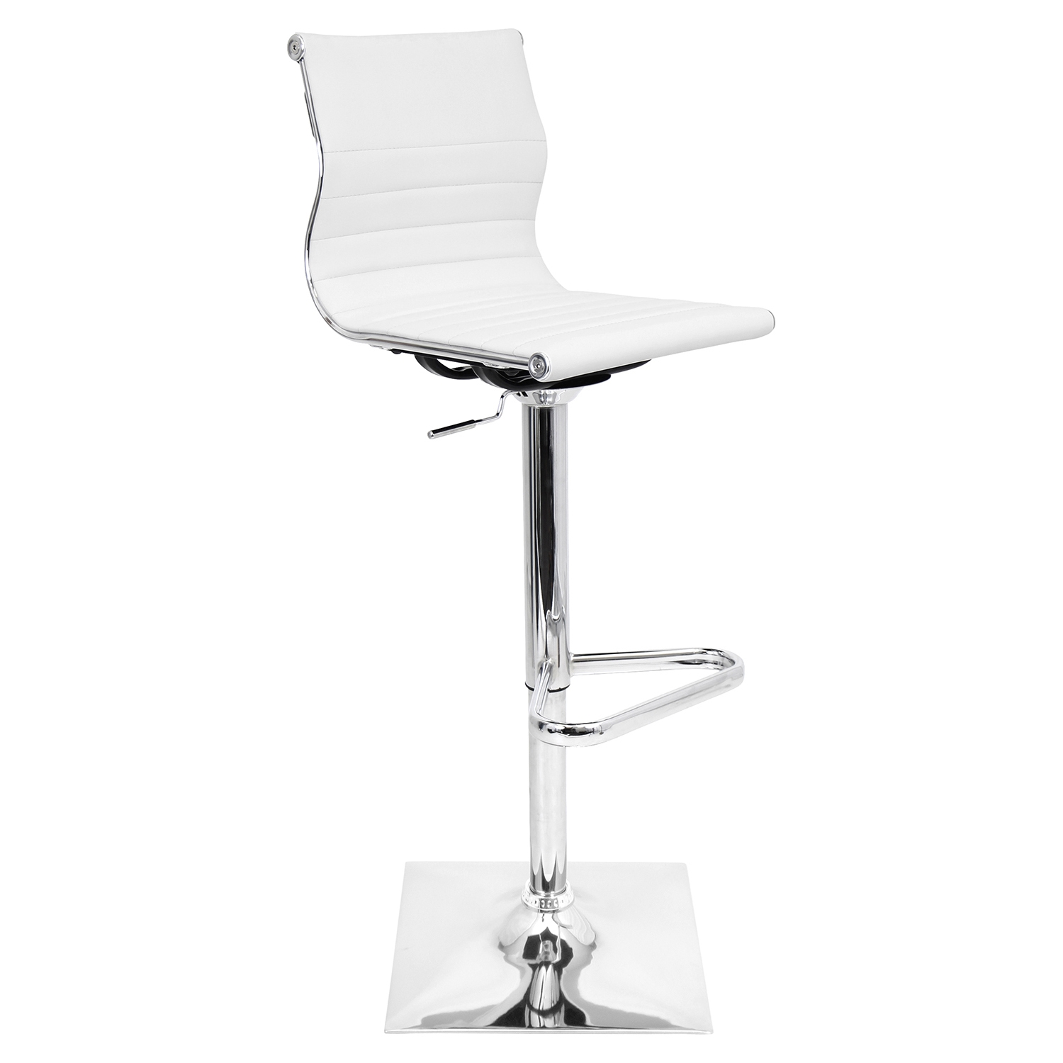 Master Height Adjustable Barstool - Swivel, White - LMS-BS-TW-MASTER-W