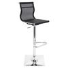 Mirage Height Adjustable Barstool - Swivel, Black
