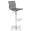 Mirage Height Adjustable Barstool - Swivel, Silver