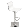 Mirage Height Adjustable Barstool - Swivel, White