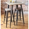Oregon Stackable Barstool - Medium Brown Top, Gray (Set of 2) - LMS-BS-TW-OR-BN-GY2