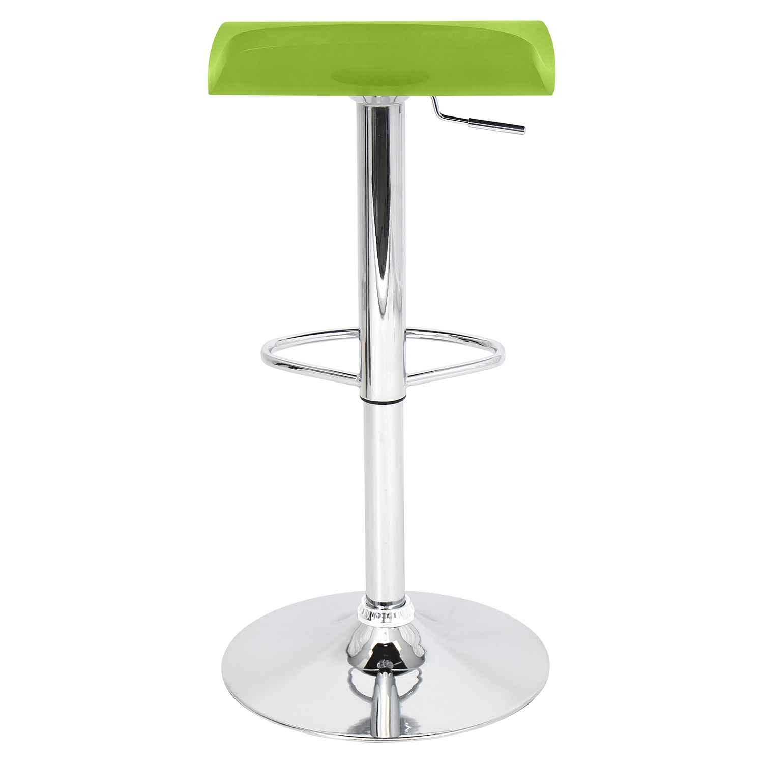 Surf Height Adjustable Barstool - Swivel, Green - LMS-BS-TW-SURF-GN