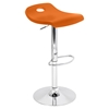 Surf Height Adjustable Barstool - Swivel, Orange