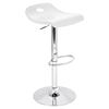 Surf Height Adjustable Barstool - Swivel, White