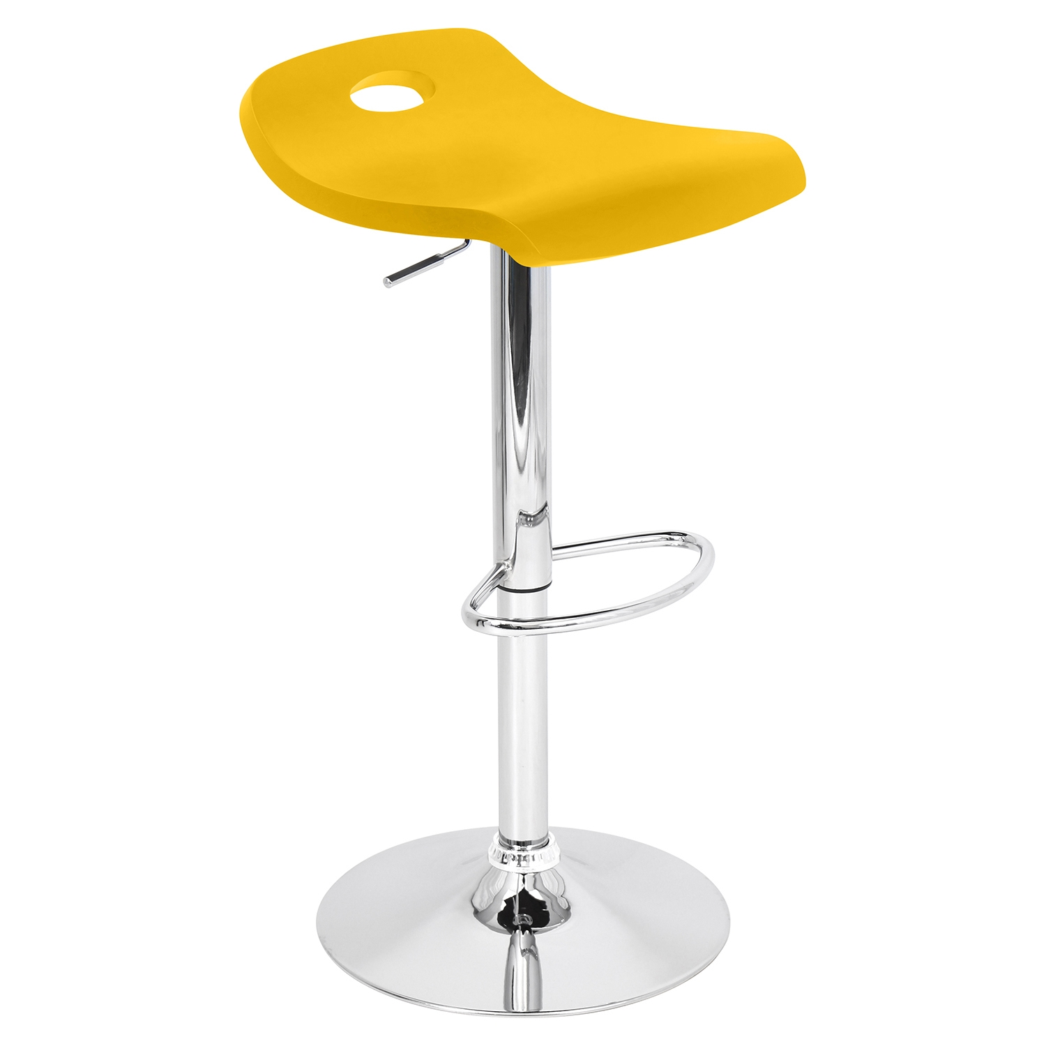 Surf Height Adjustable Barstool - Swivel, Yellow