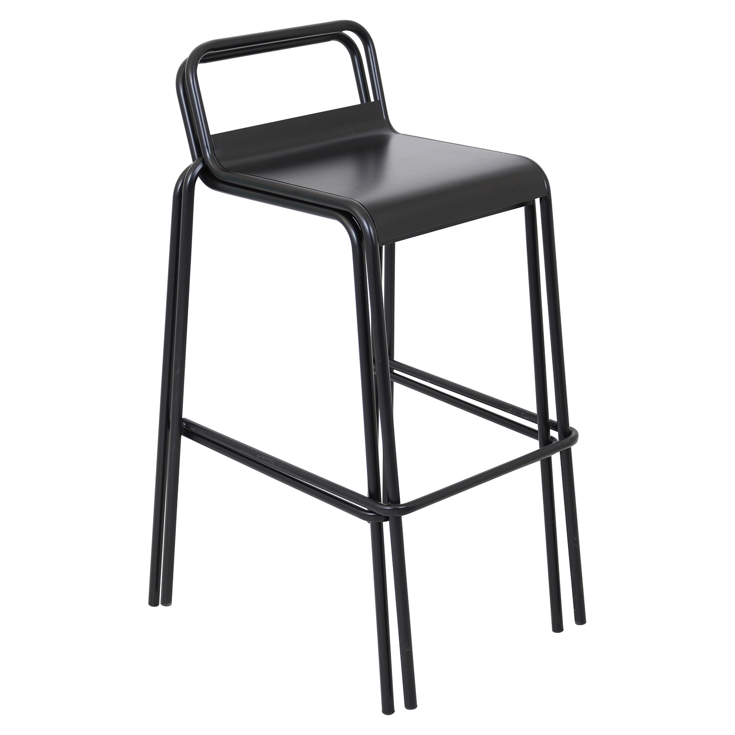 Victor Stackable Barstool - Black (Set of 2)