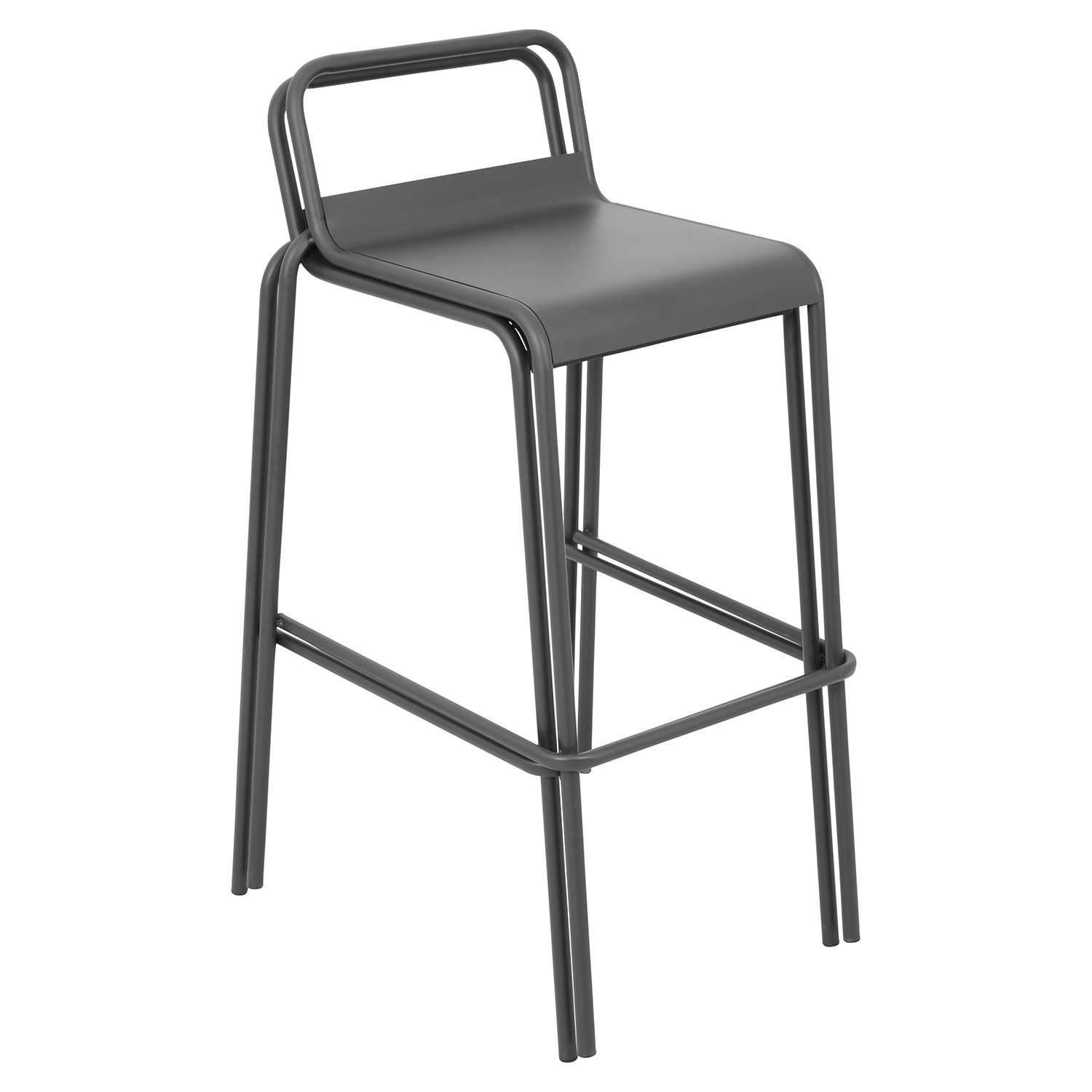 Victor Stackable Barstool - Gray (Set of 2)