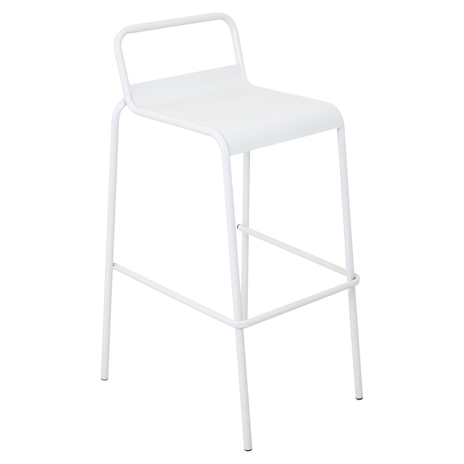 Victor Stackable Barstool - White (Set of 2) - LMS-BS-TW-VIC-W2