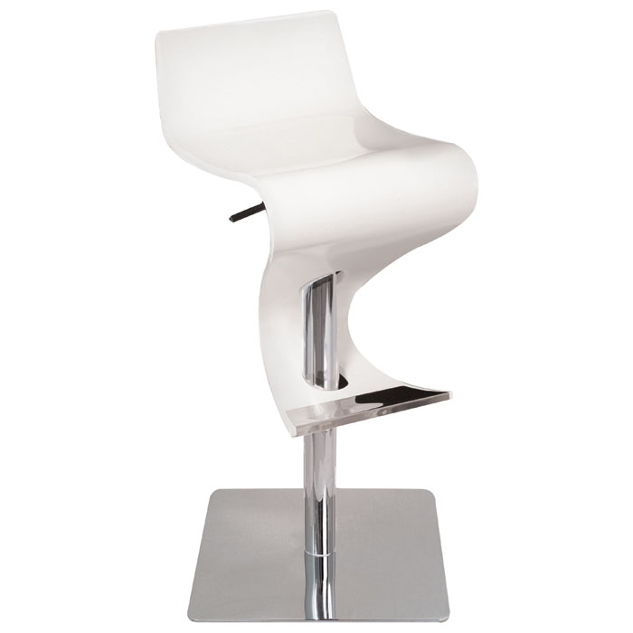 Viva Wood Adjustable Bar Stool - White