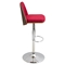 Varzi Height Adjustable Barstool - Swivel, Walnut, Red - LMS-BS-VRZI-WL-R