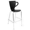 Cafe Chai Stackable Barstool - Black (Set of 3)
