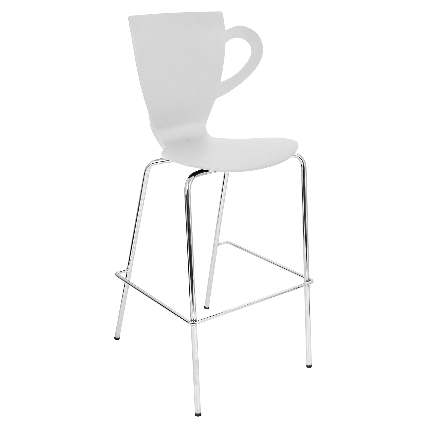 Cafe Chai Stackable Barstool - White (Set of 3)
