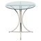 Boro Bar Table - Clear, Silver - LMS-BT-BORO-CL-PSS