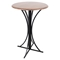 Boro Bar Table - Walnut, Black - LMS-BT-BORO-WL-BK