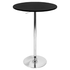 Elia Height Adjustable Bar Table - Black