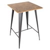 Oregon Pub Table - Medium Brown Top, Gray