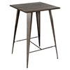 Oregon Pub Table - Dark Espresso Top, Antique