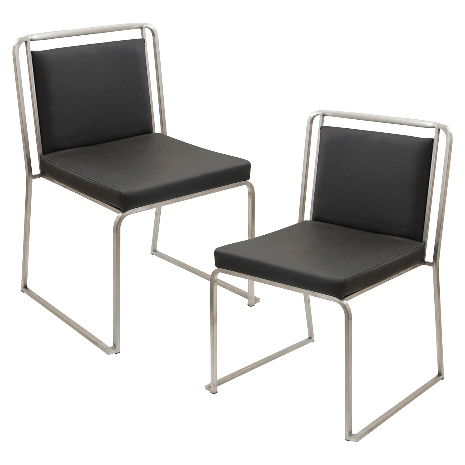 Cascade Stackable Dining Chair - Black (Set of 2)