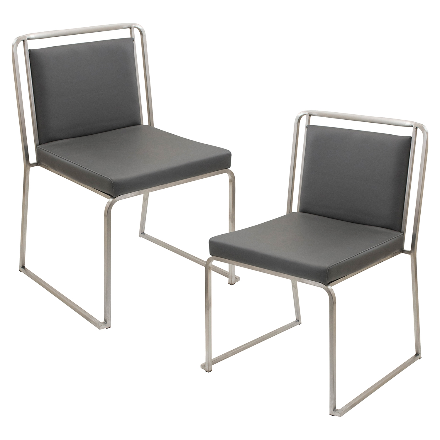 Cascade Stackable Dining Chair - Gray (Set of 2)
