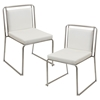 Cascade Stackable Dining Chair - White (Set of 2)