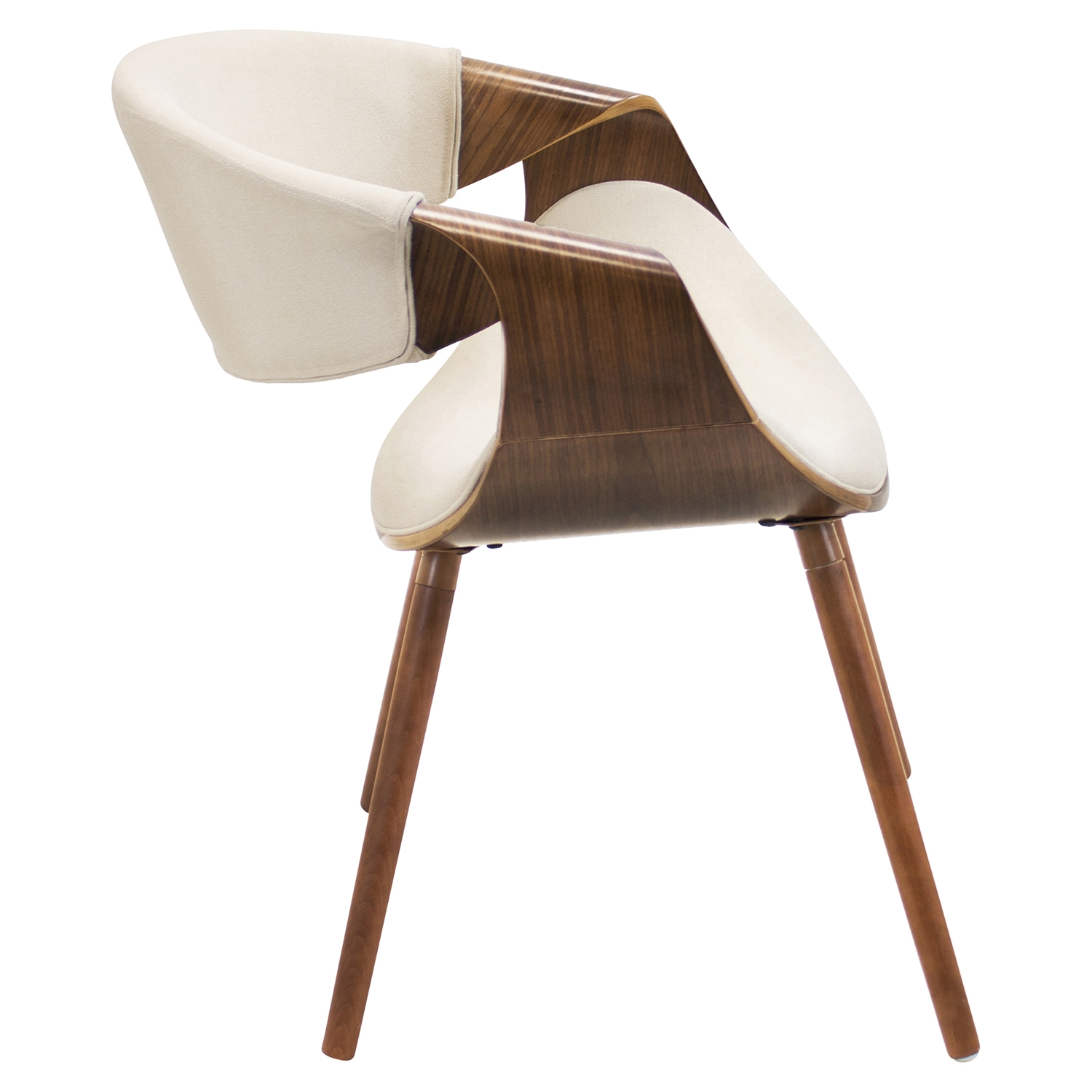 Curvo Dining Chair - Cream - LMS-CH-CURVO-WL-CR